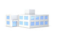 Miniature model of the office building Royalty Free Stock Photo