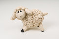 Miniature model sheep photo with clipping path Royalty Free Stock Photography