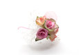 Miniature pink roses bouquet isolated on white background Stock Photo