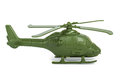 Miniature toy helicopter isolated on white background Stock Photo