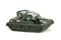 Miniature toy tank isolated on white background Royalty Free Stock Photo