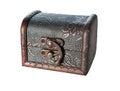 Miniature treasure chest Royalty Free Stock Photo