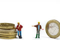 Miniatures with money construction sites Stock Photo