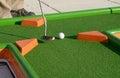 Minigolf ball on a course Royalty Free Stock Image