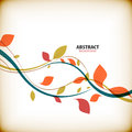 Minimal autumn floral abstract background this is file of eps format Stock Photo
