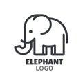 Minimal elephant logo