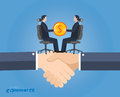 Minimal flat character of business commerce concept illustrations vector Royalty Free Stock Image