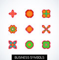 Minimal flat geometric business symbols icon set this is file of eps format Stock Photo