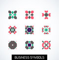 Minimal flat geometric business symbols icon set this is file of eps format Stock Photos