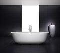 Minimal grey bathroom with jacuzzi bathtub Royalty Free Stock Photo