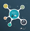Minimal infographics molecule design template can be used for workflow layout diagram number options web Royalty Free Stock Photos