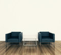 Minimal interior armchair and tadle Royalty Free Stock Images