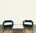 Minimal interior armchair and tadle Royalty Free Stock Photography