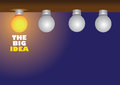 Minimal layout design of light bulbs showcasing having a bright idea Royalty Free Stock Photo