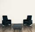 Minimal modern interior armchair Royalty Free Stock Photos
