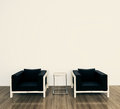 Minimal modern interior armchair Stock Images