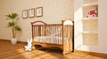 Minimal modern interior of nursery. Stock Photos