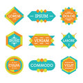 Minimal vintage label color geometric Royalty Free Stock Photo