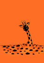 Minimalism cartoon Melting giraffe Stock Photos