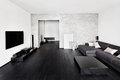 Minimalism drawing-room interior Royalty Free Stock Photo