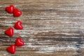 Minimalist concept for love or Saint Valentine`s day