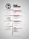 Minimalist CV, resume template