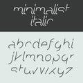 Minimalist italic alphabet Royalty Free Stock Photo