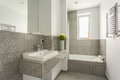 Minimalist washbasin in granite bathroom Royalty Free Stock Photo