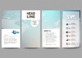 The minimalistic abstract vector illustration of editable layout of four modern vertical banners, flyers design business