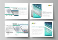 The minimalistic abstract vector illustration of the editable layout of the presentation slides design business