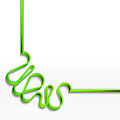 Minimalistic background with green ribbon abstract eps Royalty Free Stock Photos