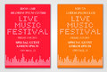 Minimalistic music festival flyer vector illustration of design template Royalty Free Stock Photography