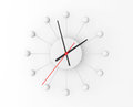 Minimalistic sphere wall clock on a white background Royalty Free Stock Images
