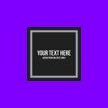 Minimalistic Text Frame On Bri...