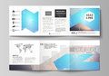The minimalistic vector illustration of the editable layout. Two modern creative covers design templates for square