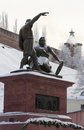 Minin and pozharsky monument in nizhny novgorod russia at the old kremlin Stock Photos