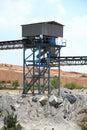 Mining conveyors Royalty Free Stock Photo