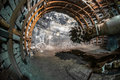 Mining machine in coal mine Royalty Free Stock Photo