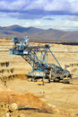 Mining machine for surface mining Stock Image
