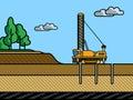 Mining rotary drill