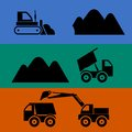 Mining and transportation of sand vector Royalty Free Stock Photography