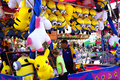 Minion carnival game prizes there are many enticing for young and old alike at a circus or midway area Stock Photo