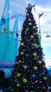 Minion chritsmas tree minions christmas at universal studios hollywood Stock Photography