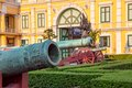 Ministry of defence building bangkok and museum old cannon detail in front the the thailand on sanamchai road Royalty Free Stock Image