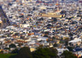Miniture castro district image was taken at twin peaks san francisco it was converted to a using various techniques Royalty Free Stock Photo