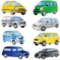 Minivan Icons Set
