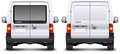 Minivan rear view