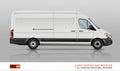 Minivan vector template