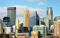 Minneapolis city skyline of minnesota usa Royalty Free Stock Image