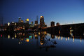 Minneapolis skyline at night Royalty Free Stock Photography
